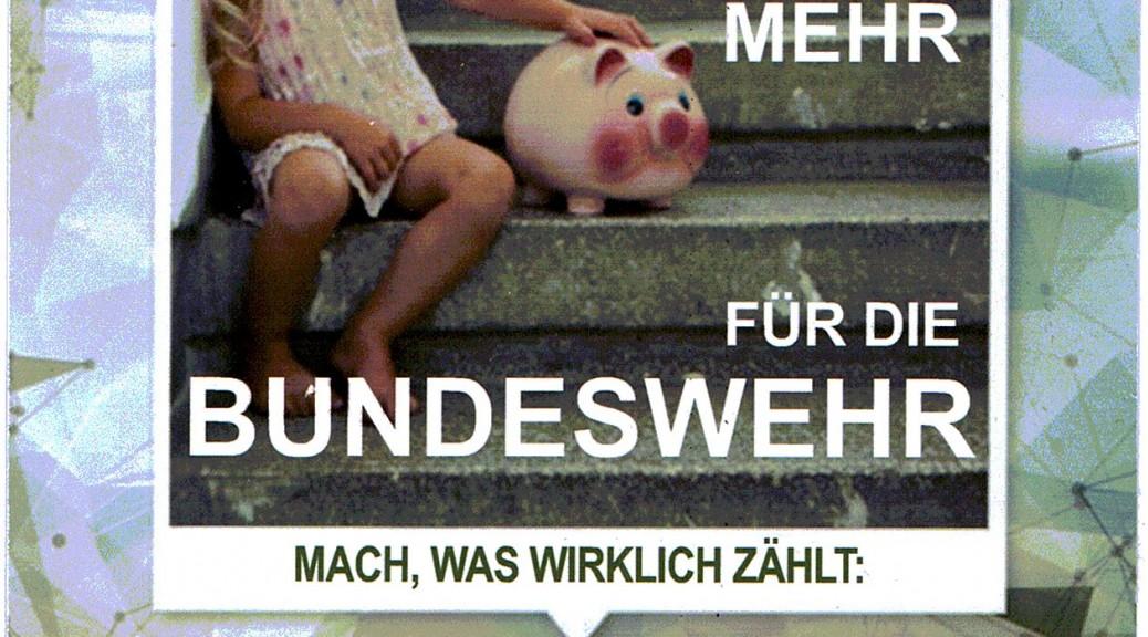 Keinen EURO mehr für die Bundeswehr